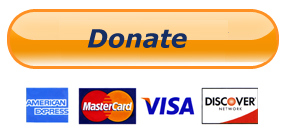 donate button with major credit cards underneath